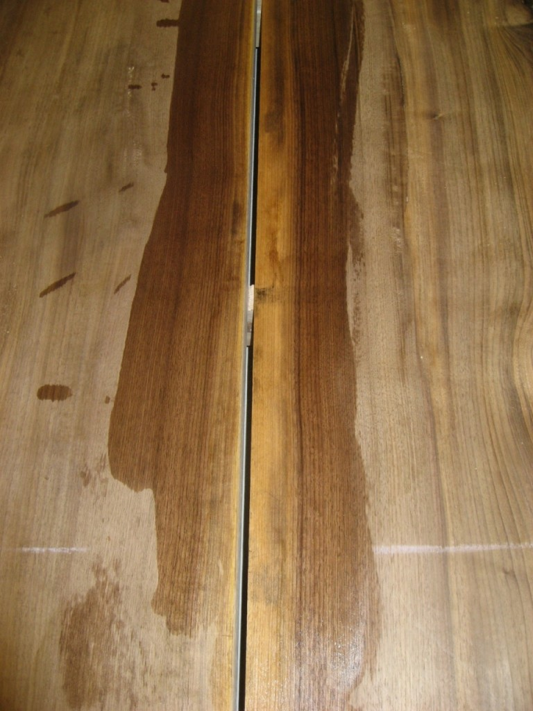 Sapwood is White on Air-Dried Walnut