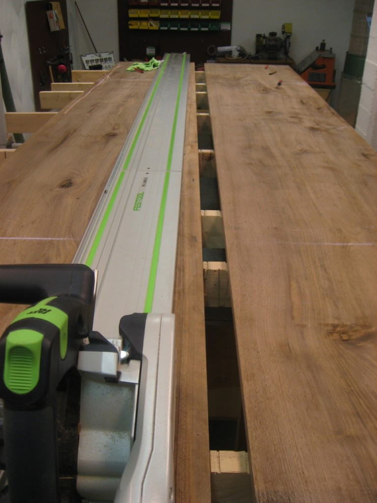 Two Festool Rails Connected to Rip