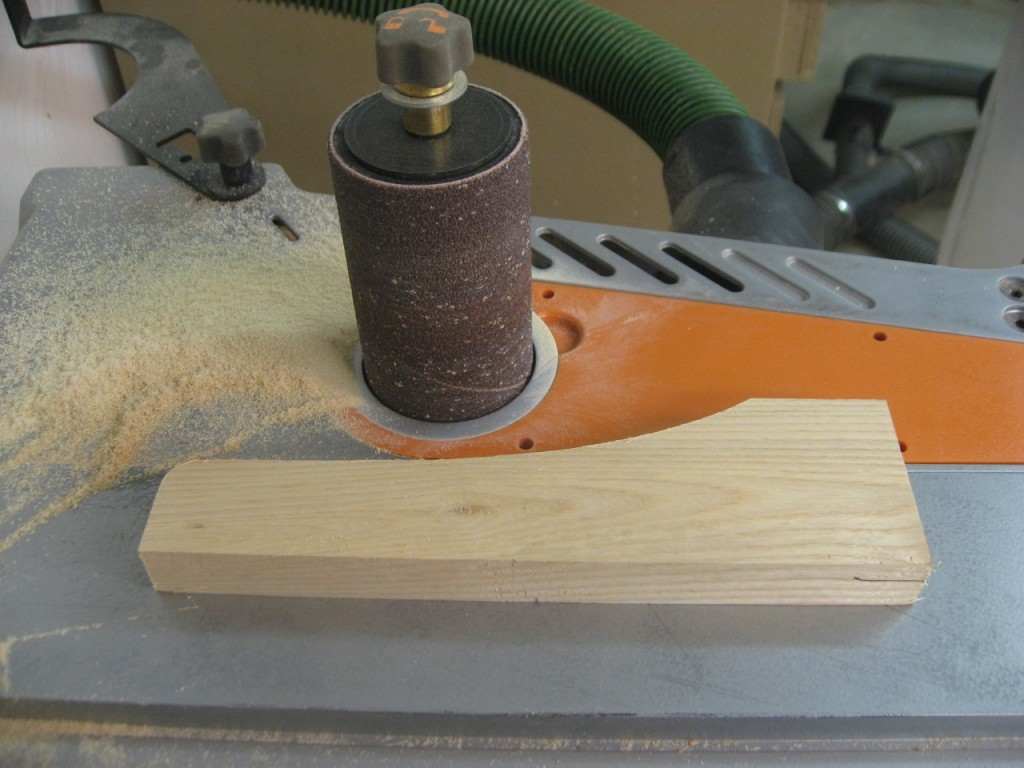 The spindle sander cleans up the bandsaw marks