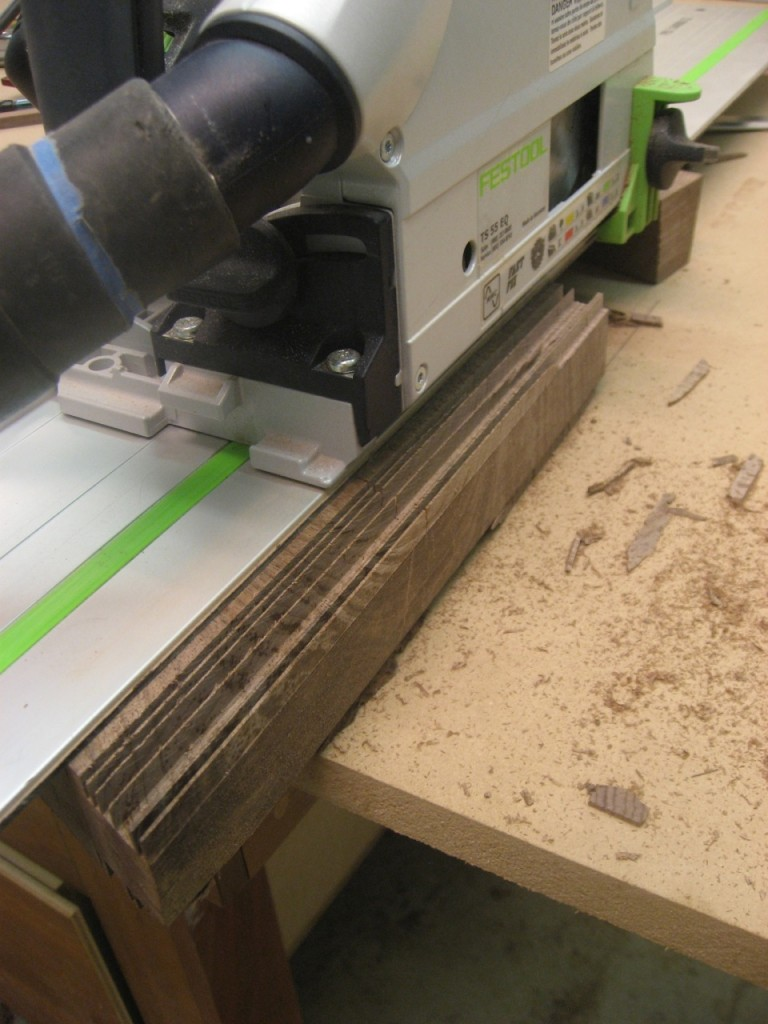The Festool TS55 quickly remove tenon cheek material.