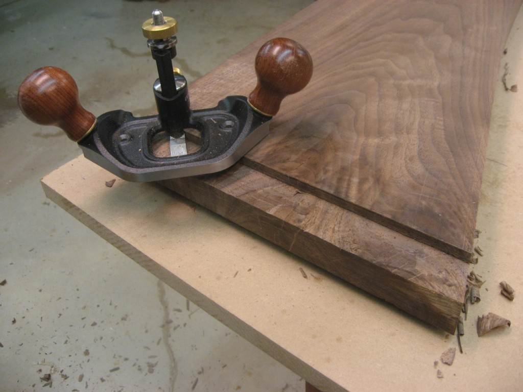 Veritas Router Plane cleans up tenon cheeks beautifully.