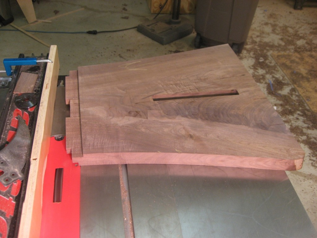 Tenons on a table saw