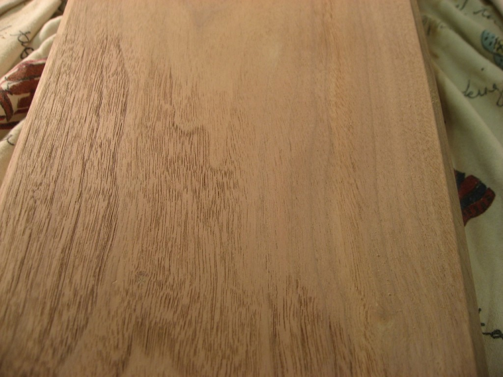 Vacuumed walnut on the left versus dusty right