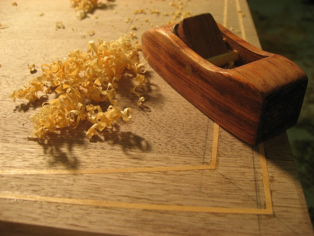 Using a Hock Block Plane to Clean Inlay