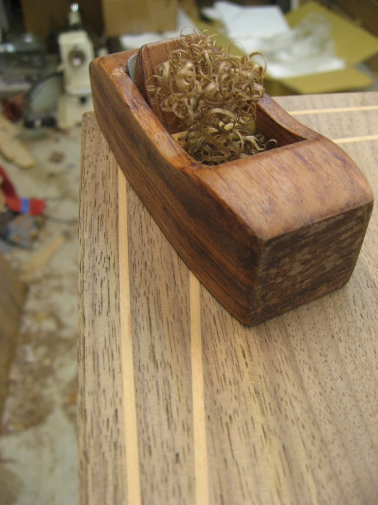 Hock Block Plane Creates a Bevel