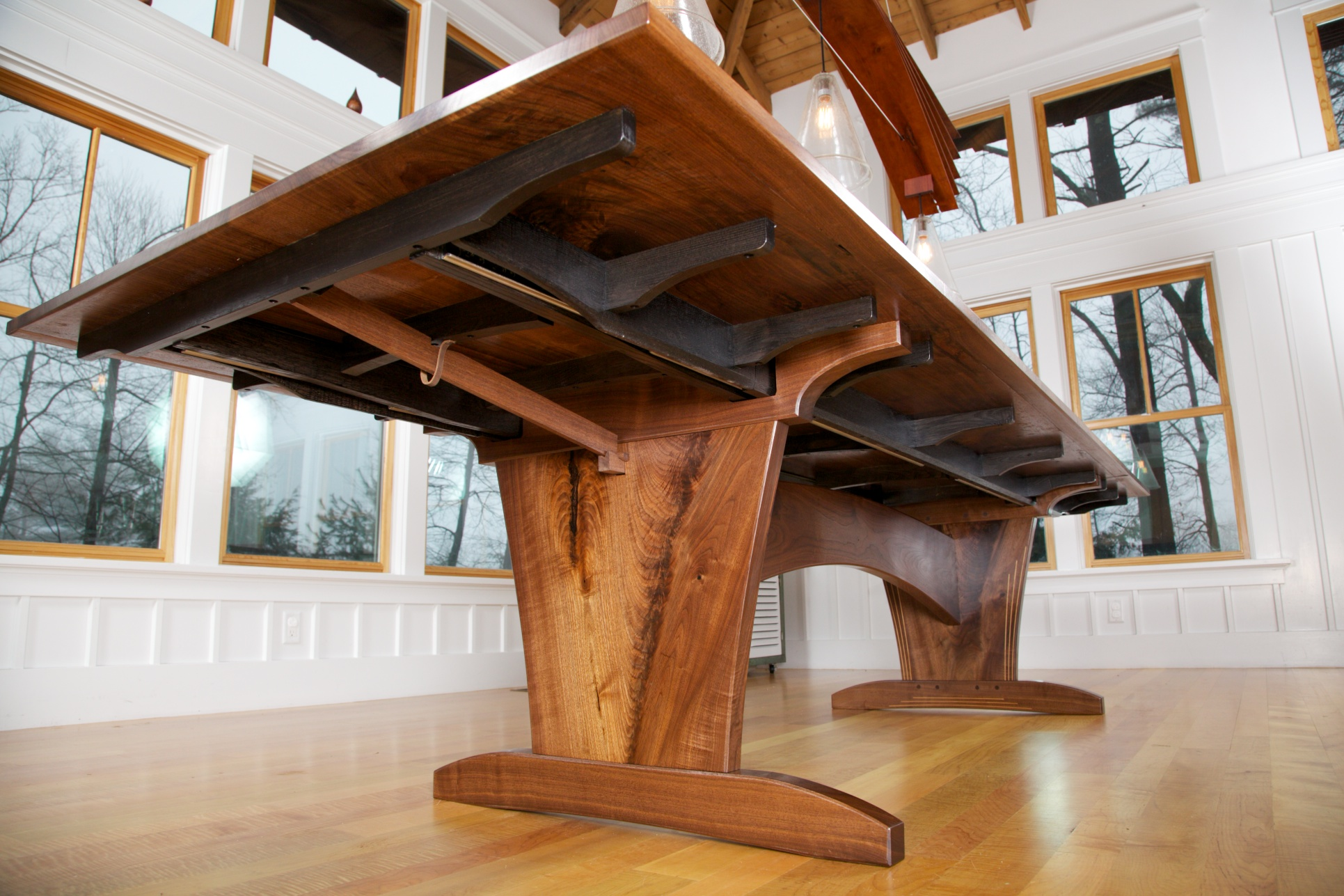 Underside Support Of The Dining Room Table
