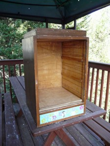 The basis of our Little Free Library.