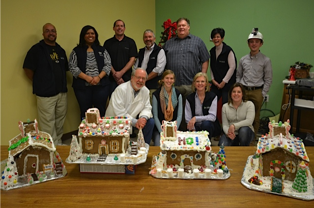 My Habitat Affiliate We also build houses out of gingerbread.