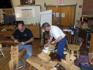 Last minute fitting and the spindles get glued into the seat.