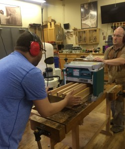 Taper Jig with Tage Frid and Sam Maloof watching us work.