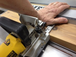 Joe Cassinick's tip, using the table saw fence as a backstop when cutting biscuit slots or Festool Domino mortises was an excellent one, and I tried it here.