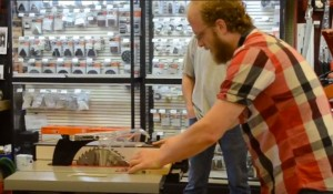 Ben Arthur demonstrates the SawStop JobSite Table Saw