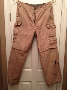 "The famous Beverly cargo pants. I'd never seen so many pockets before! I never took advantage of the zip-off legs. I'm just not a ""shorts kind of guy,"" I suppose."