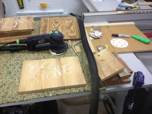 Using the jig you use to cut sandpaper for your quarter-sheet sanding pad, just line it up and follow the dado. Haven't made that jig yet? Click here to follow the steps.