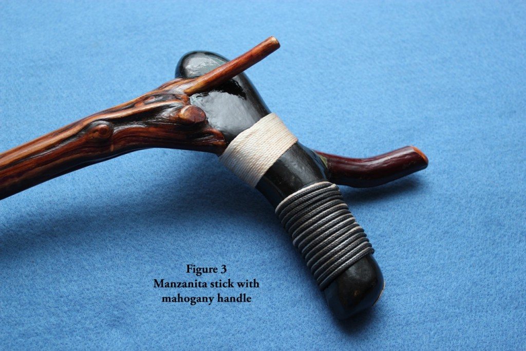 Fig 3 mahog manzanita handle