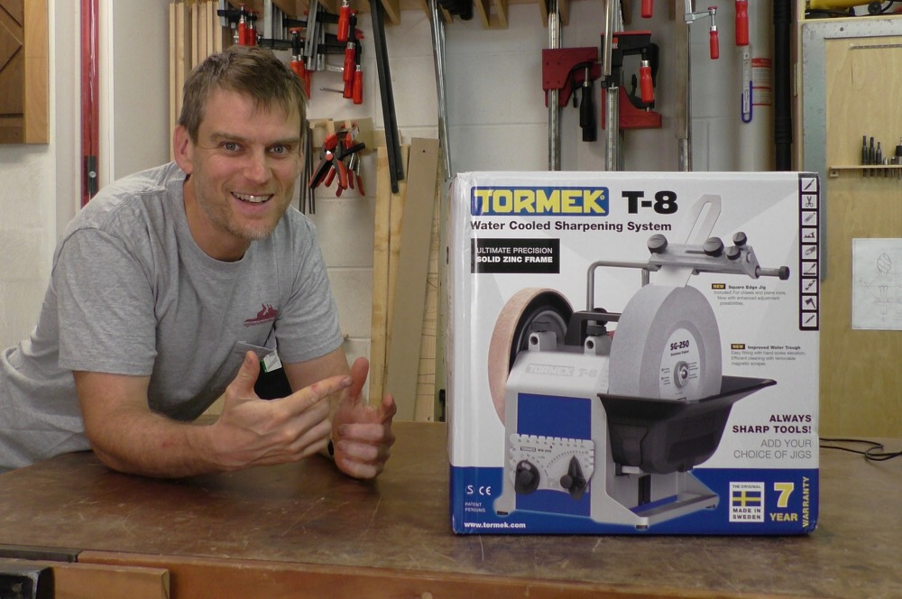 Morton and the new Tormek T-8