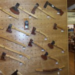 Highland Woodworking's New Ax Display