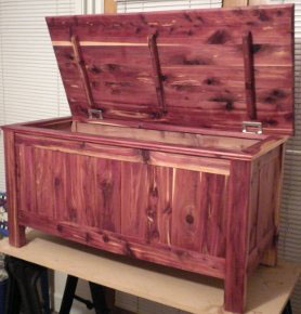 Truly a labor of love, a hope chest for our eldest granddaughter.