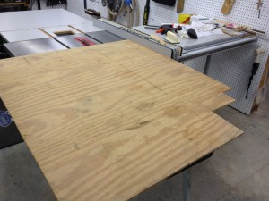 "I settled on this scrap of 3/8"" plywood and cut a 13½"" by 13½"" square. Why, yes, now that you mention it, I did save the jagged-edged scrap. You just never know when you might need a jagged-edged piece of plywood!"
