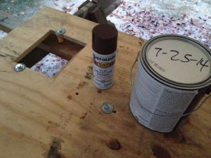 Rust-oleum Rusty Metal Primer will prevent metal parts from being corroded by latex paint, and it dries rapidly, but be sure it's completely dry before starting to brush on latex primer.