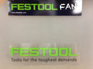 I got some Festool stickers at a Festool Connect show in New Orleans. Now, it's easy to tell which filing box is which.