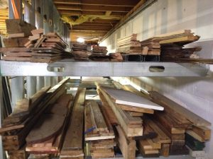 "As you can see, little of the lumber here is ""prime."" There was a lot of wasted space above the top crossmember. The twisted and bent lumber refused to be stacked neatly, and fell over if the stacks were too high."