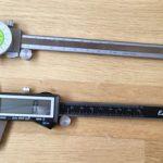 Caliper Comparison: Fraction Dial vs. Digital